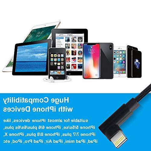 Compatible 90 Phone 3ft aceyoon Cable l Connector Xs, 7 Plus, 6s,