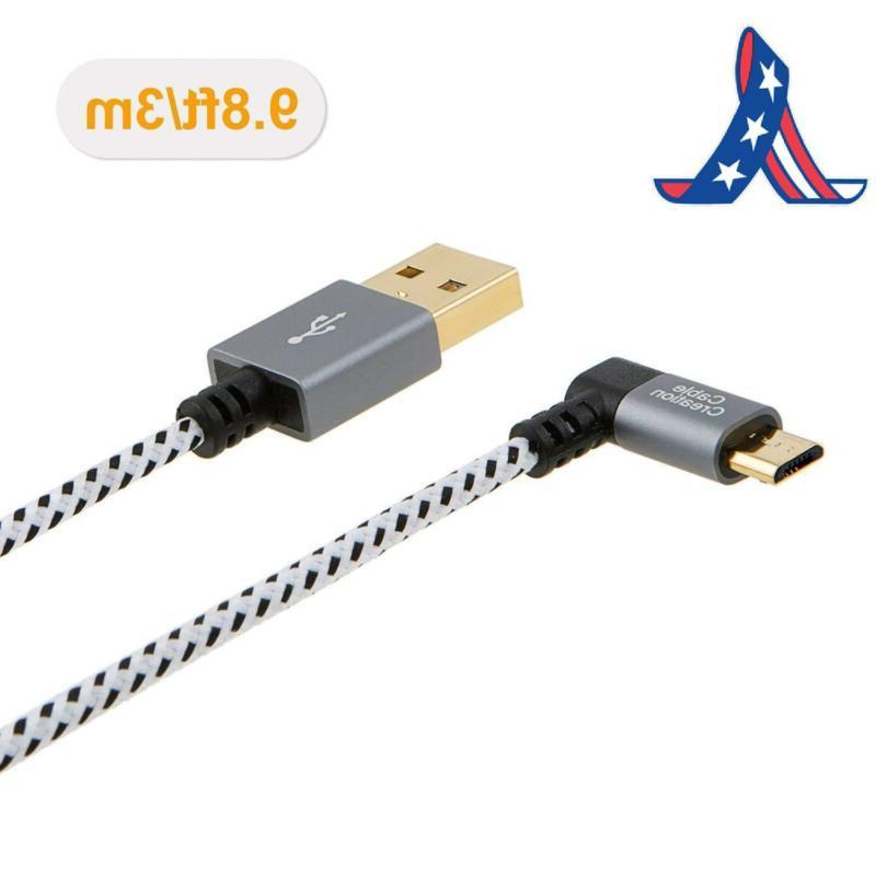 Cablecreation Usb Cable, 90 Degree Vertica