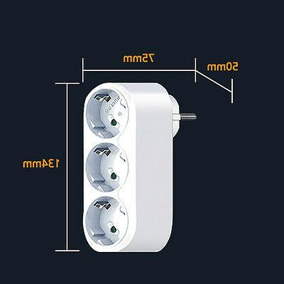 90 Rotating Power Outlet Strip Socket Adapter