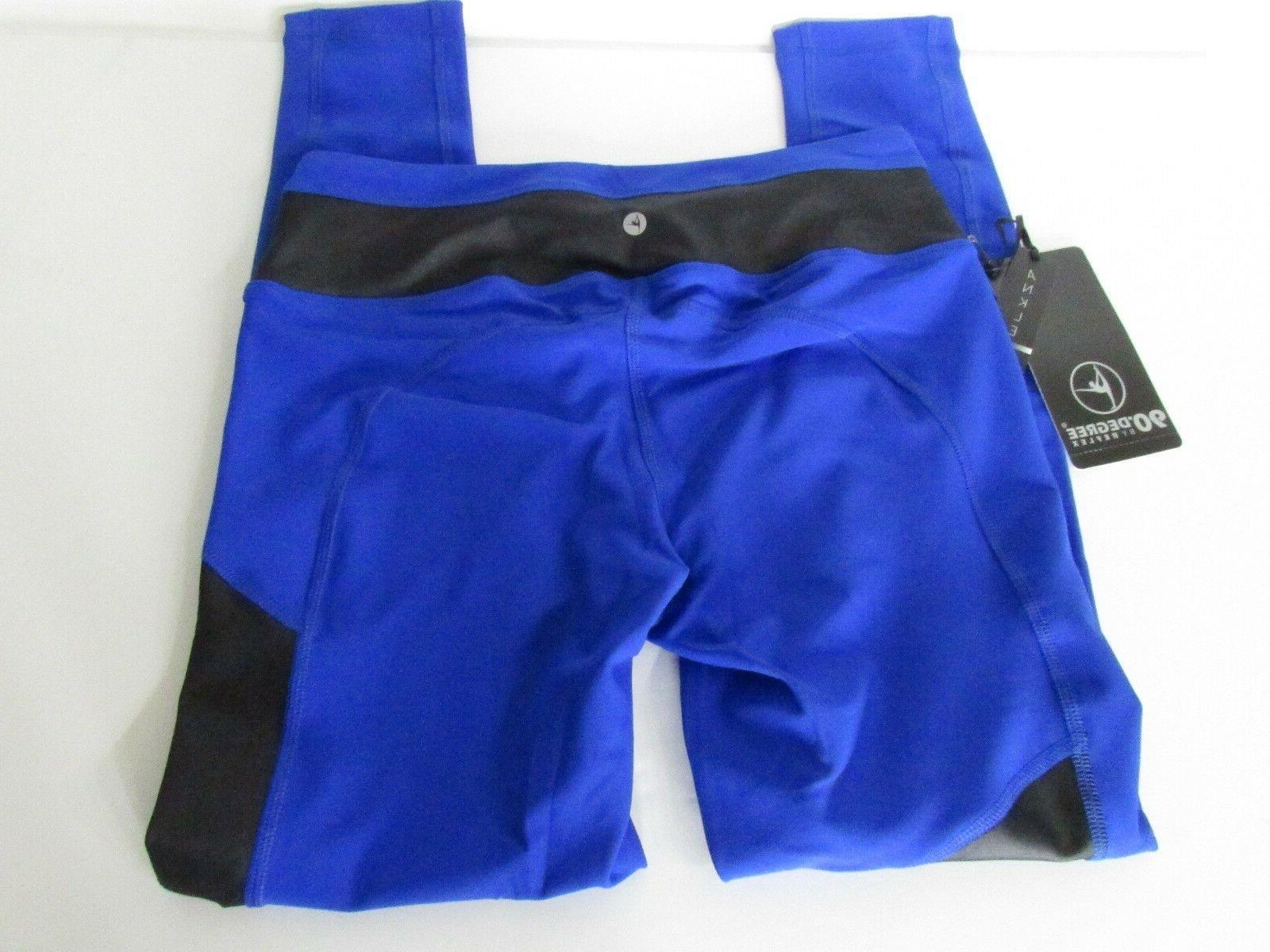 90 Royal Blue Yoga Workout Pants w/ Inserts, size L