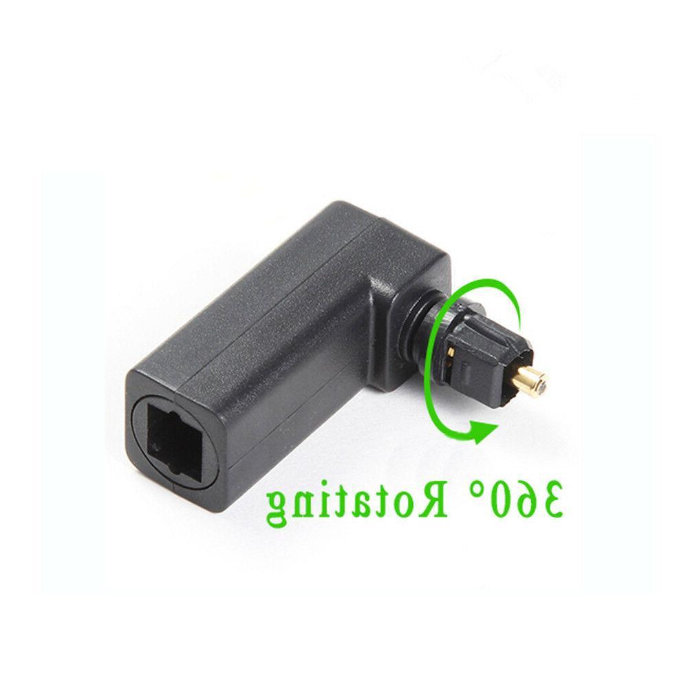 Spdif Optical Connector Toslink 90 Degree Optical Audio Cabl