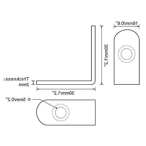 Mellewell 10 PCS Steel Degree Corner Bracket Joint 20 3 3 CB8020C-10