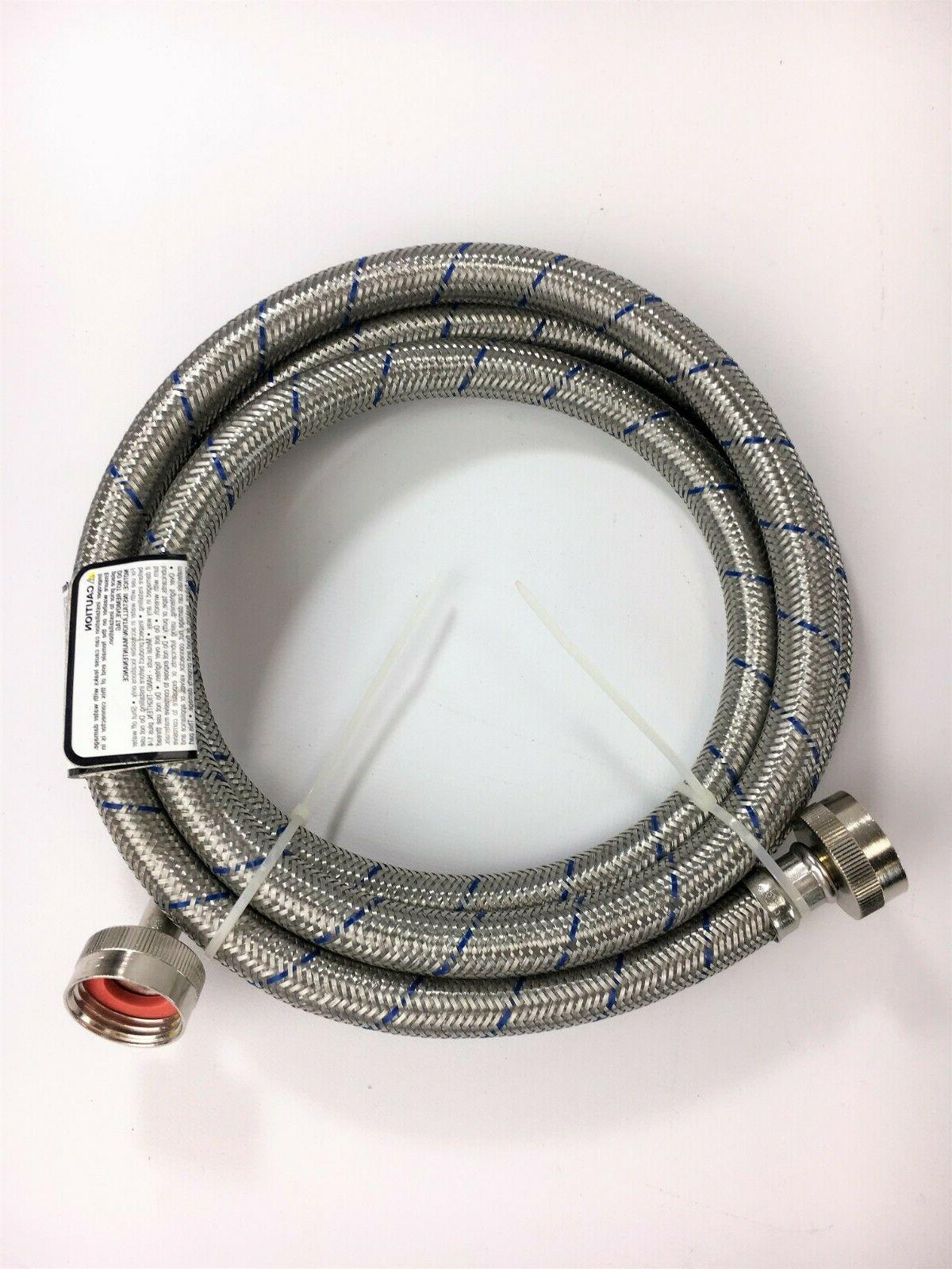 stainless steel washing machine hose with 90