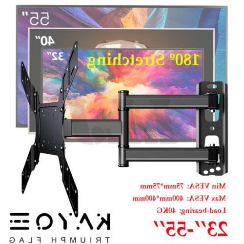 """TV Wall Mount Swivel Tilt Bracket for 23-55""""LED Flat Screen"""