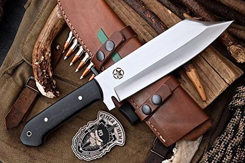 CFK Cutlery Company USA Custom Handmade SHEEPSFOOT Hunting with Leather Sheath Starter Rod & Stone Set CFK140