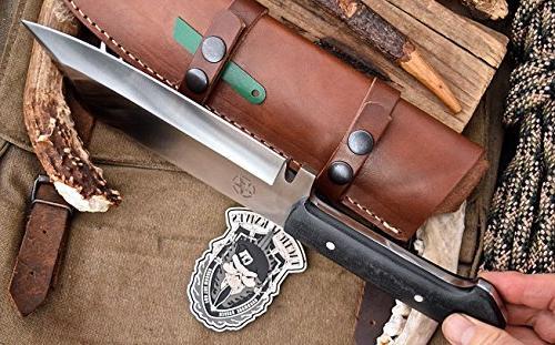 CFK Cutlery Company Custom D2 SHEEPSFOOT Chopper Hunting Knife Starter Rod & Wet Stone Sharpener