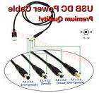 USB A Male Port to 5.5mm / 2.5mm 5V DC Barrel Jack Power Cab