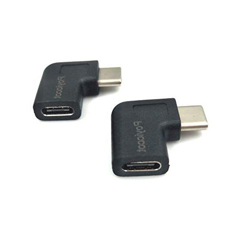 Poyiccot to & Left Angled Degree USB-C Type-C Extension Adapter & & Mobile Phone