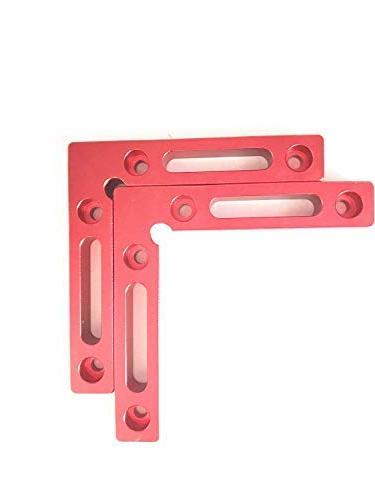 """Positioning Squares 4.7"""" Right Angle Woodworking Tool Clamping Square for Frame 2 Pack"""