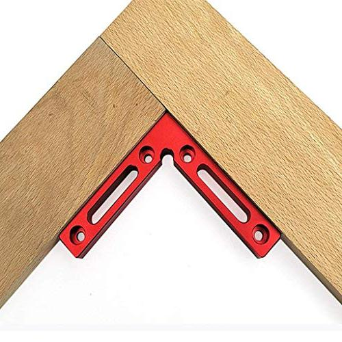 """NEW 90 Degree Positioning 4.7"""" 4.7"""" Right Angle Woodworking Carpenter Clamping Square Frame 2 Pack"""