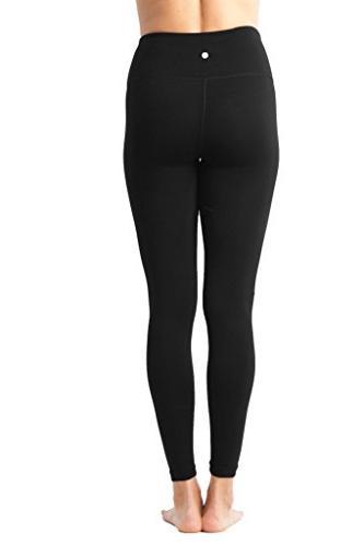 90 Degree - High Waist Flex Legging Control Black and Magenta -