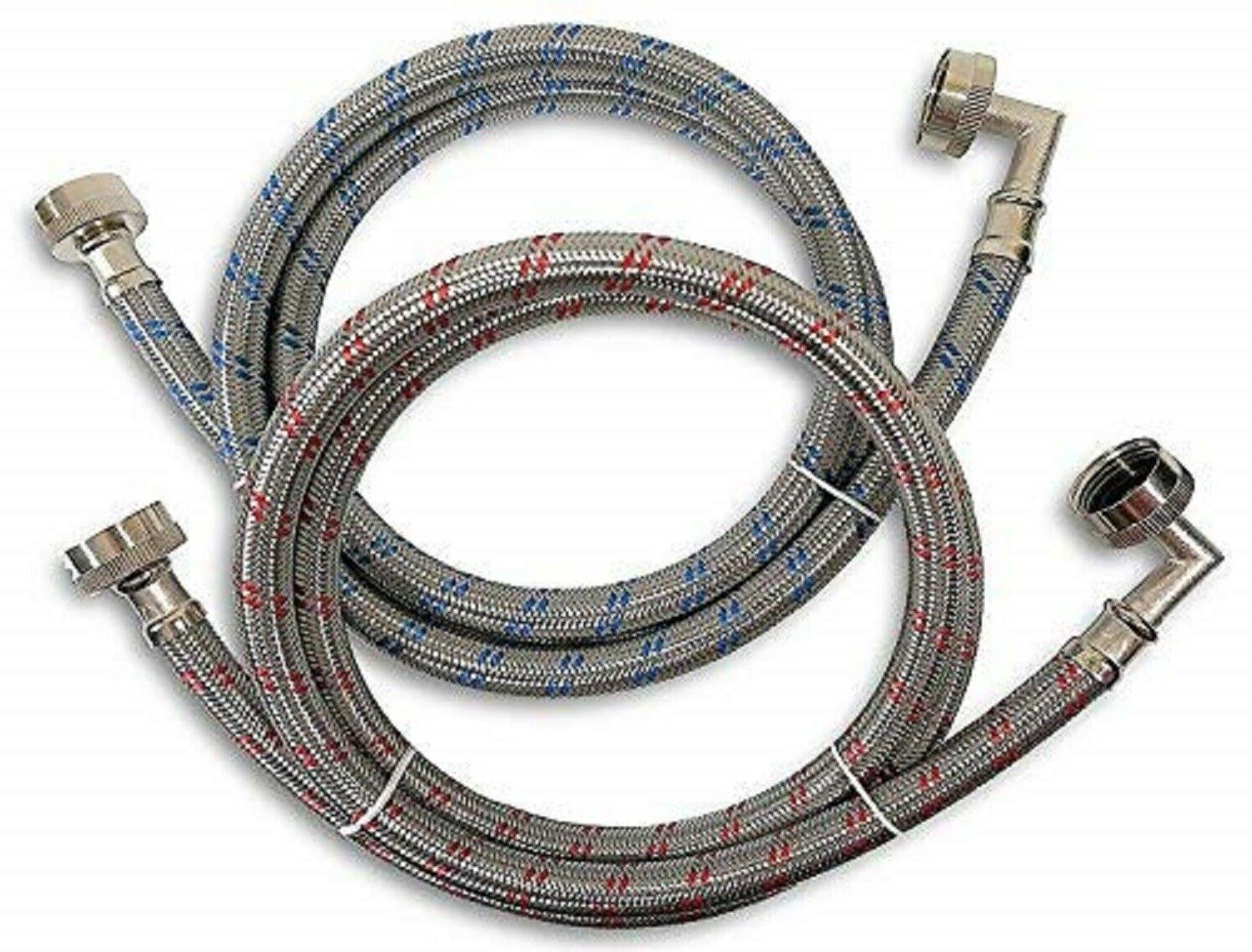 washing machine hoses 5ft 2 pack stainless