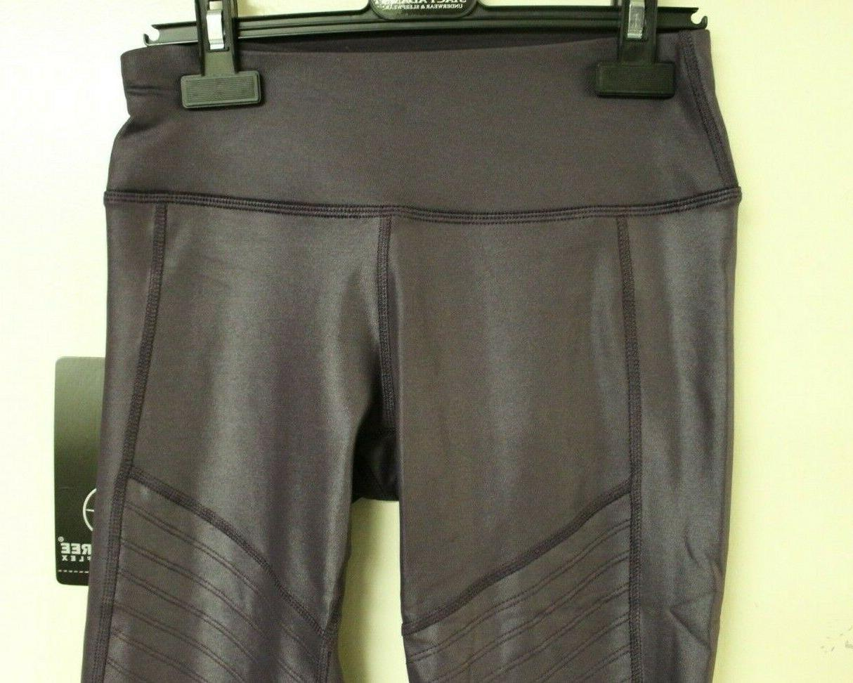 90 Women's Mesh Detail Fig Sugar Purple Leggings