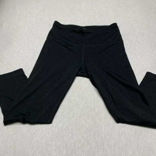 90 Degree by Womens Activewear Leggings Black Size Large L EUC