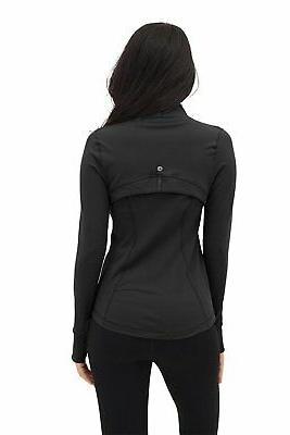 Womens Full Zip Jacket - Black