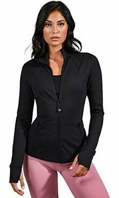 90 Degree By Reflex Womens Full Zip Jacket - Black - Large