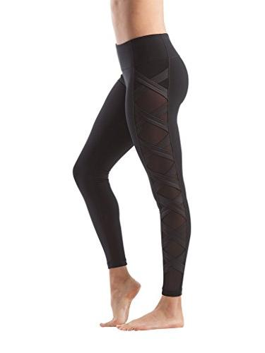 womens high fashion criss cross workout leggings