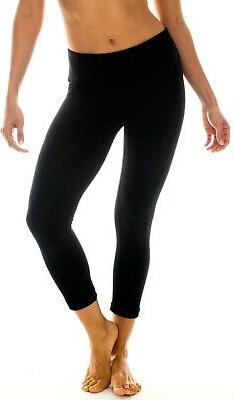 womens leggings black size medium m cropped