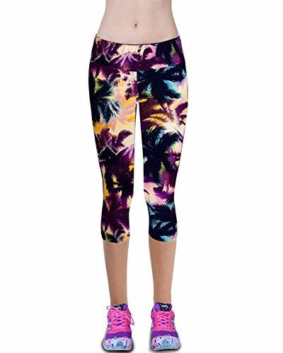 womens printed active workout capri leggings outfit