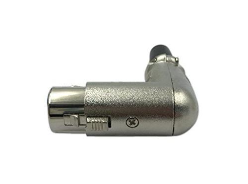 Cerrxian Degree Socket Microphone Adapter Converter