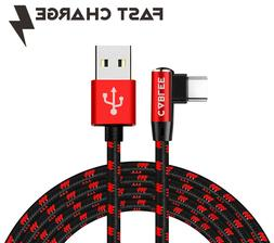 L Shape 90 Degree Type-C USB 4,6ft 10ft Fast Charger Game Ca