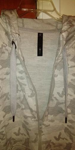"""Ladies Gray front Zip Hoodie, size XL By:""""90 Degree"""