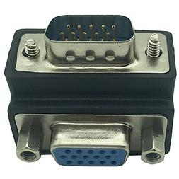 DONG 90 Degree M/F Right Angle Cord Monitor Connector 15 Pin
