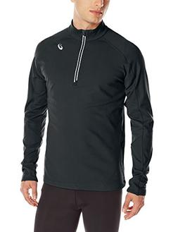 ASICS Men's Thermal XP Extra Protection 1/2 Zip Top, Black,