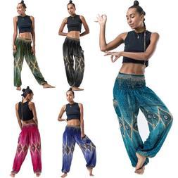 Men Women Thai Harem Trousers Boho Festival Hippy Smock High