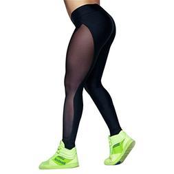 Moxeay Mesh Panels Stretchy Workout Sports Gym Yoga Leggings