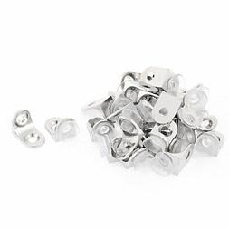 Metal 90 Degree Mounting Glass Shelf Support Fixing Clip Bra