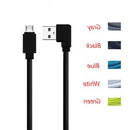 Micro USB Data Cable Angle 90 degree Double-Side Charging Le