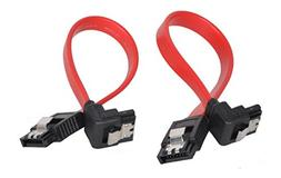 """Mo-Co-So 2 Pack 5""""/130mm SATA III 6.0 Gbps Cable with Lockin"""