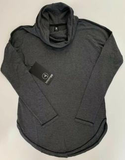 mock neck comfy shirt lfw94340 heather charcoal