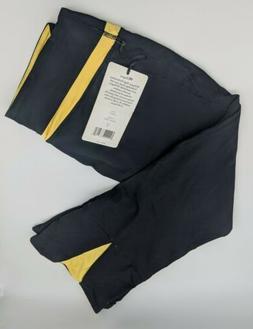 NEW 90 Degree by Reflex Capri Dance Workout Leggings Yellow