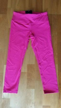 New 90 DEGREE Hot Pink High Waist Women's S Small Capri Yoga