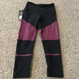 New 90 Degree By Reflex High Waist Capri Legging Sz Small Bl