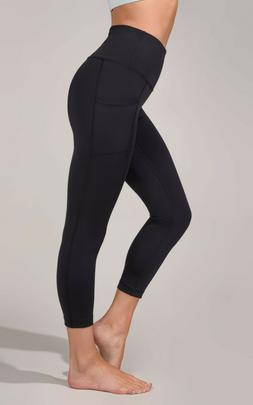 NEW 90 Degree By Reflex Interlink High Waist Pocket Capri Le