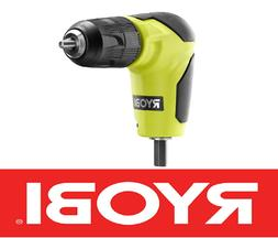 "NEW RYOBI RIGHT ANGLE 90 DEGREE DRILL ATTACHMENT 3/8"" CHUCK"