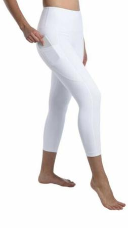 NWT 90 Degree By Reflex Capri Leggings Workout High Waisted