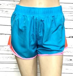 NWT 90 DEGREE BY REFLEX Juniors XL Running Shorts Blue Pink