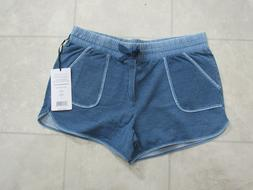NWT 90 Degree by Reflex Womens Shorts Color-HTR Denim-Size-L