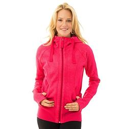 NWT Active Life 90 Degree By Reflex Womens Zip Up Hooded Pin