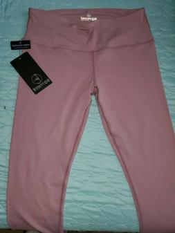 NWT 90 Degree By Reflex Athletic Workout Yoga Capri Leggings