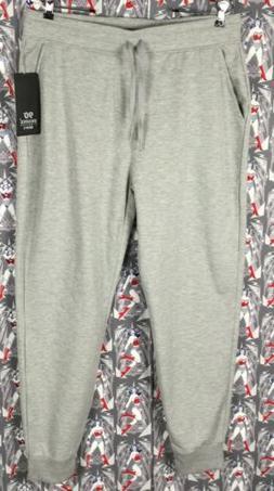 NWT 90 Degree By Reflex Men's Gray Fleece Sweatpants Cuffed