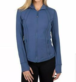 NWT 90 DEGREE By REFLEX Women's Blue Full Zip Running Jack