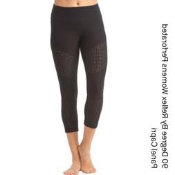 NWT 90 Degree by Reflex Womens S Black Perforated Panel Capr