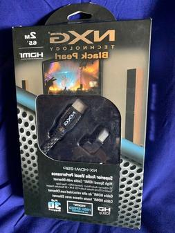 NXG NX-HDMI-2BP, 2M 4K HDMI Cable w/ Woven Jacket +HDMI 90 D