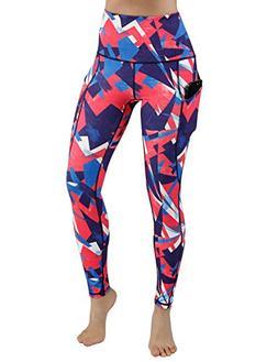 ODODODOS High Waist Out Pocket Printed Yoga Pants Tummy Cont
