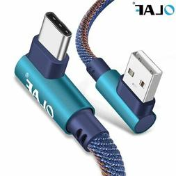 OLAF 2m USB Type C 90 Degree Fast Charging usb c cable Type-
